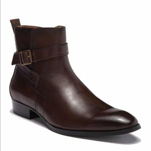Men's Sacha Buckle Strap Leather Boot Size 14 $130